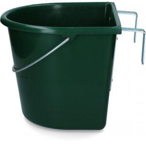 Voerbak 15 l met ophang en hengsel groen 2