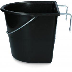 Voerbak 15 l met ophang en hengsel zwart 2