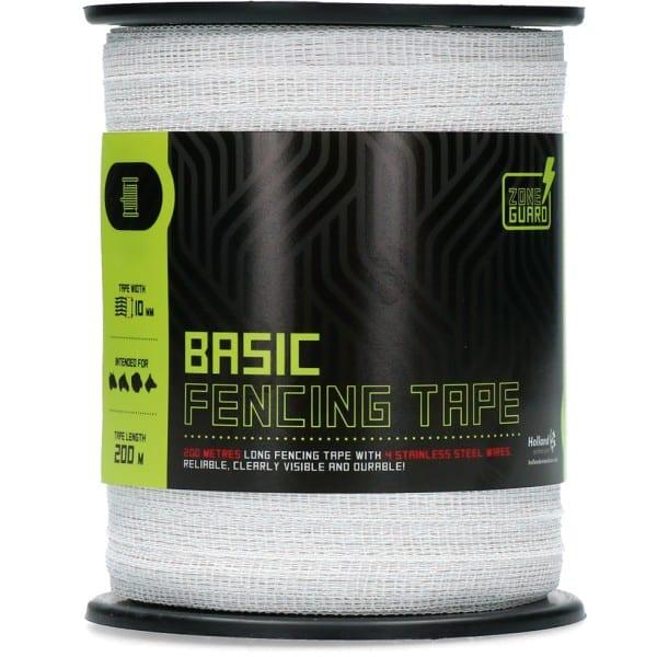 ZoneGuard 10 mm Basic afrasteringslint wit 200 m 1