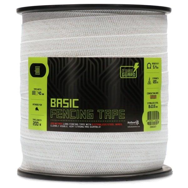 ZoneGuard 40 mm Basic afrasteringslint wit 200 m 1