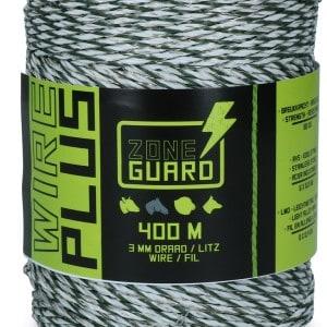 ZoneGuard 3 mm Plus afrasteringsdraad wit en groen 400 m