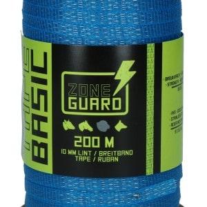 ZoneGuard 10 mm afwerend afrasteringslint blauw 200 m