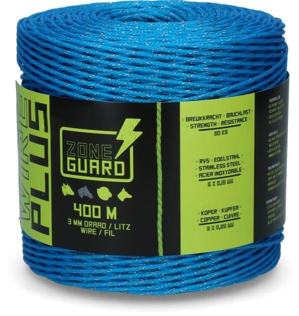 ZoneGuard 3 mm afwerend afrasteringsdraad blauw 400 m