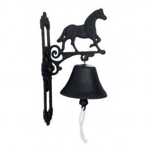 Deurbel gietijzer paard