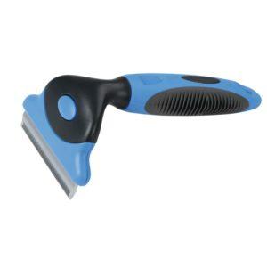 Borstel voor het verwijderen van losse haren bij paarden
